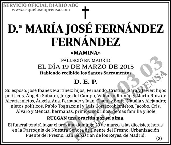 María José Fernández Fernández